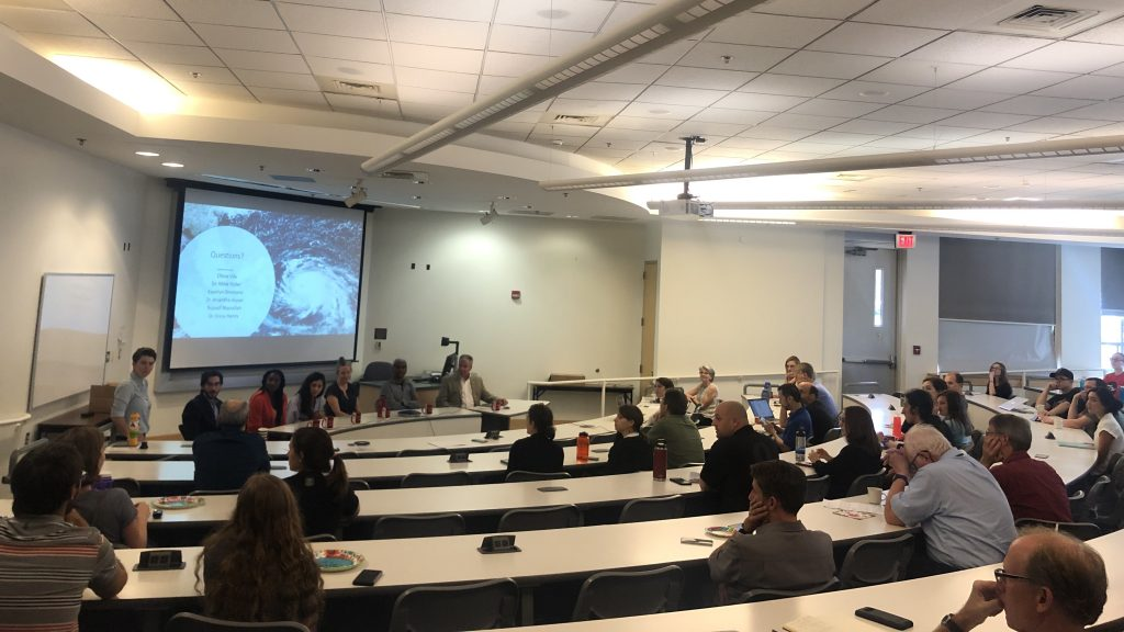 Panel discussion at the first Global Change Seminar of the Fall 2019 semester