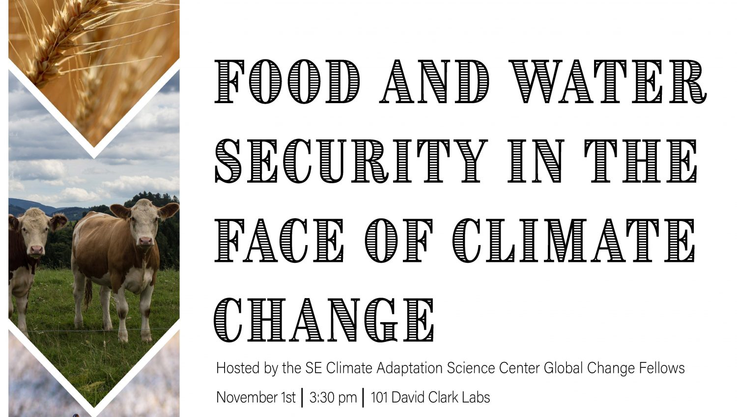 Food Security in the Face of Climate Change forum flyer.